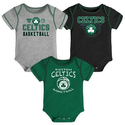 NBA Boston Celtics Baby Boys' Onesies Bodysuit 3pk - 6-9M