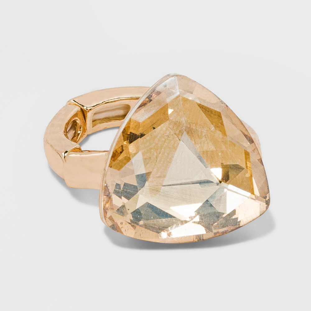 Solitaire Smokey Topaz Glass Ring - A New Day Gold