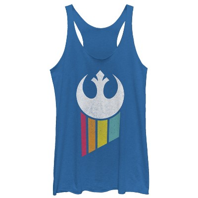Women's Star Wars Rebel Rainbow Emblem Racerback Tank Top