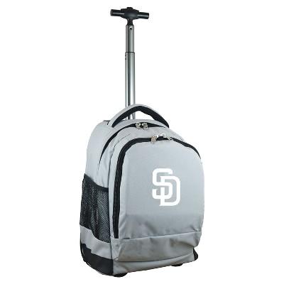 MLB San Diego Padres Premium Wheeled Backpack - Gray