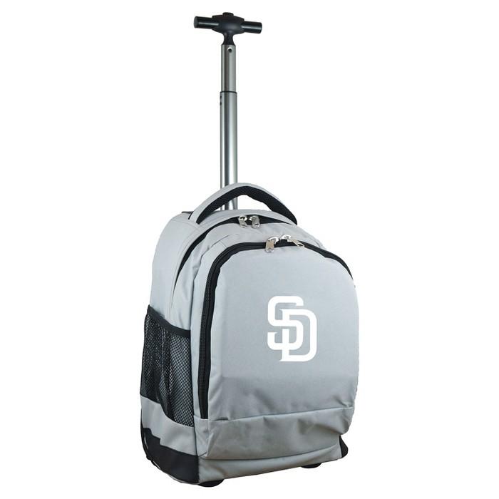 MLB San Diego Padres Premium Wheeled Backpack - Gray - image 1 of 5