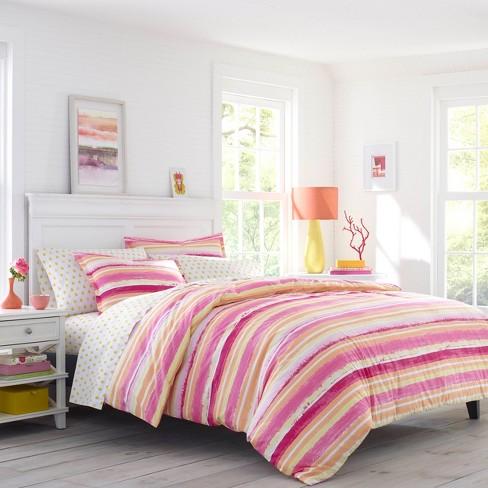 Alex Dark Pink Comforter Set Poppy Fritz