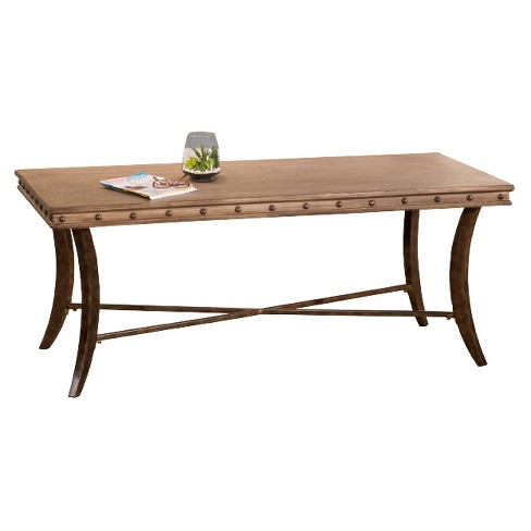 Emmons Wood & Metal Rectangle Coffee Table - Washed Gray - Hillsdale Furniture - image 1 of 2