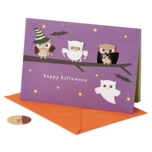 Papyrus Owls Halloween Card - image 1 of 4