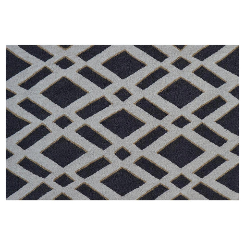 Gray Diamonds Area Rug (32
