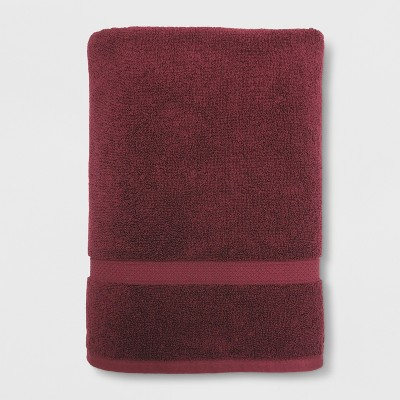 Soft Solid Bath Sheet Maroon - Opalhouse™