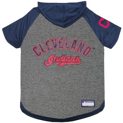 Cleveland Indians Pets First Pet Hoodie T-Shirt - M