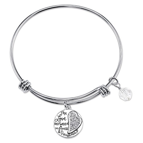 Women's Mother Daughter Expandable Bangle in Stainless Steel - image 1 of 2