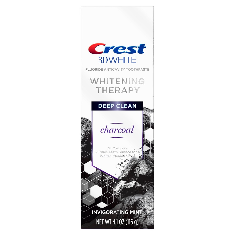 Image of Crest 3D White Whitening Therapy Charcoal Toothpaste 4.1oz