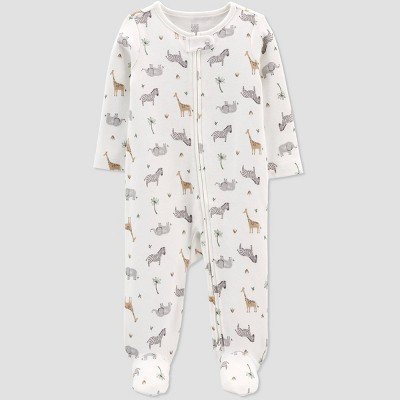 Baby Girls' Safari Sleep N' Play - Just One You® made by carter's White 6M