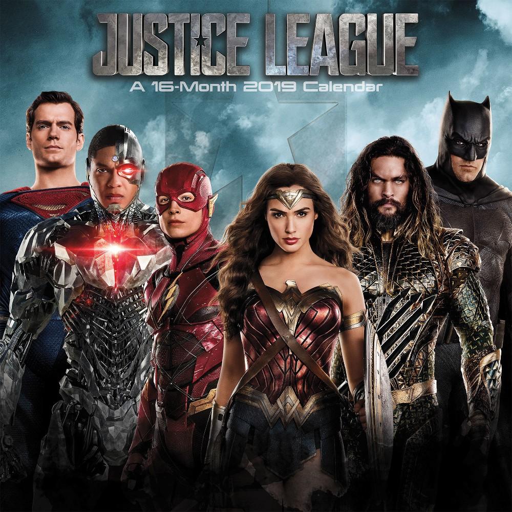 2019 Wall Calendar The Justice League Movie - Trends International, Multi-Colored