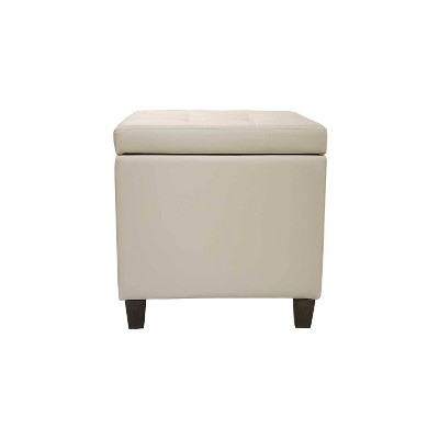 Square Button Tufted Storage Ottoman with Lift Off Lid - WOVENBYRD
