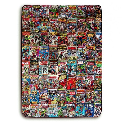 Surreal Entertainment Marvel Comics Oversized Fleece Sherpa Throw Blanket | 54 x 72 Inches