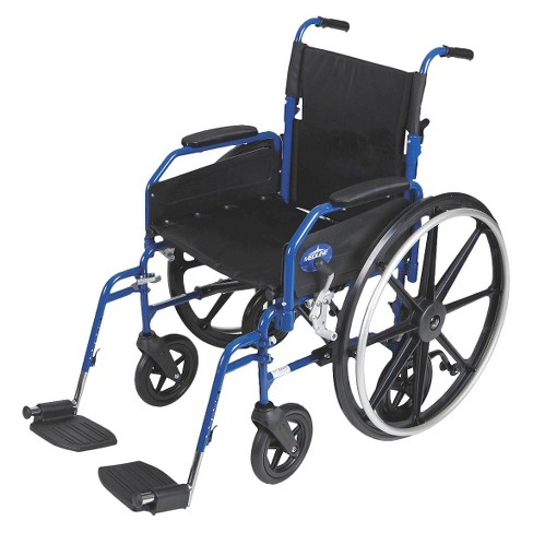 Medline Combination Wheelchair Transport Chair - Blue - image 1 of 1