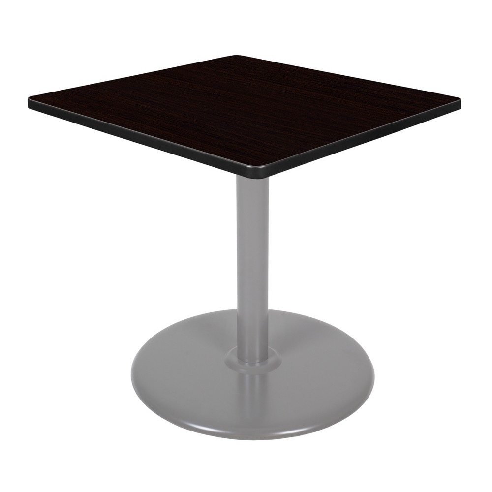 30 Via Square Platter Base Table Espresso/Gray (Brown/Gray) - Regency