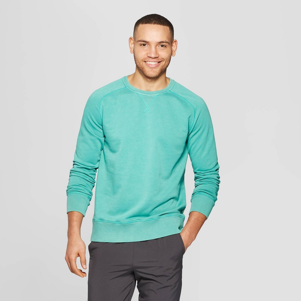 Men's Crewneck Sweatshirt - C9 Champion Foggy Ocean Teal S