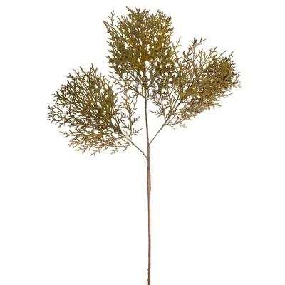 """Melrose 30.5"""" Green Cedar Branches and Cones Artificial Spray"""
