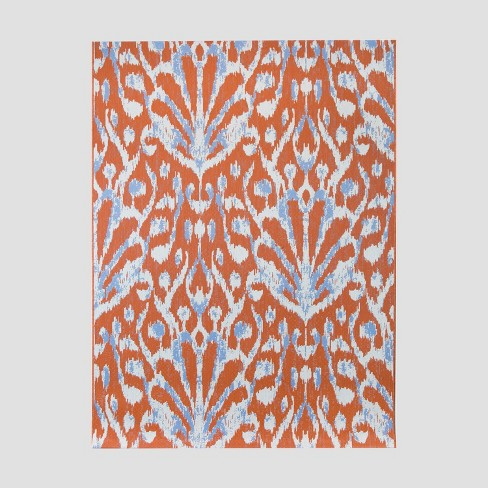 Peacock Ikat Outdoor Rug - Opalhouse™ - image 1 of 3