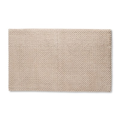 20  x 34  Low Chenille Memory Foam Bath Rug Bare Canvas - Threshold™