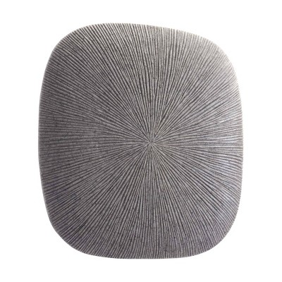 """ZM Home 14"""" Textured Square Wall Sculpture Light Gray"""