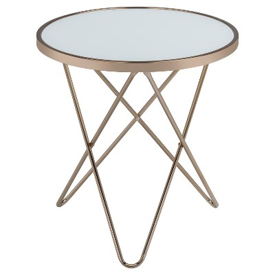 End Table Frosted Champagne
