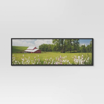 "11.75"" x 36"" Panoramic Poster Single Image Frame Black - Room Essentials™"
