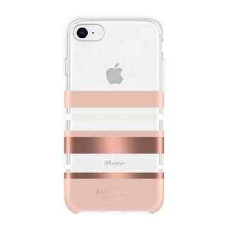Kate Spade New York Apple iPhone SE (2nd gen)/8/7/6s/6 Case Park Stripe - Rose Gold/Cream