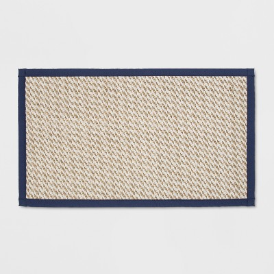 34 x20  Border Kitchen Mat Blue - Threshold™