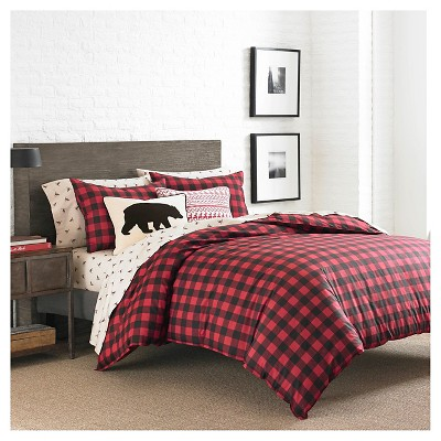 Mountain Plaid Comforter And Sham Set (Full/Queen)Red - Eddie Bauer®