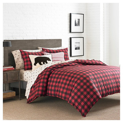 red plaid comforter king Mountain Plaid Comforter And Sham Set (King) Red   Eddie Bauer  red plaid comforter king