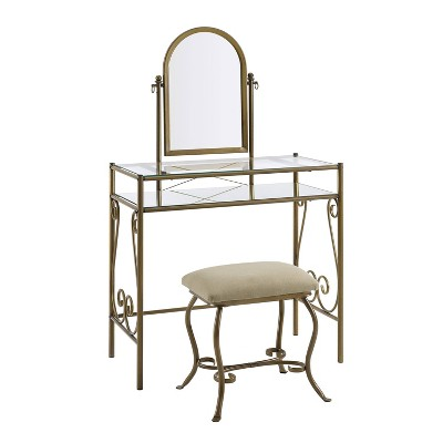 Clarisse Metal Vanity Set - Linon