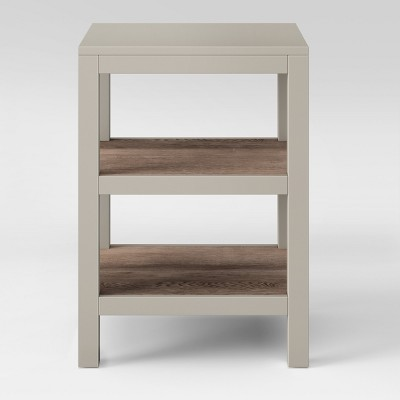 Hadley Accent Table with Shelf Gray - Threshold™