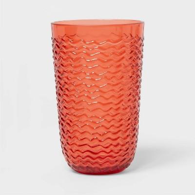 19oz Plastic Wave Texture Tall Tumbler Orange - Opalhouse™