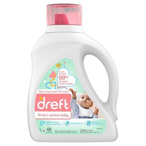 Dreft Active Baby Liquid Laundry Detergent - 75 fl oz - image 1 of 4