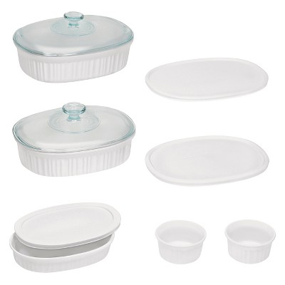 CorningWare 10pc Ceramic Bake Set White