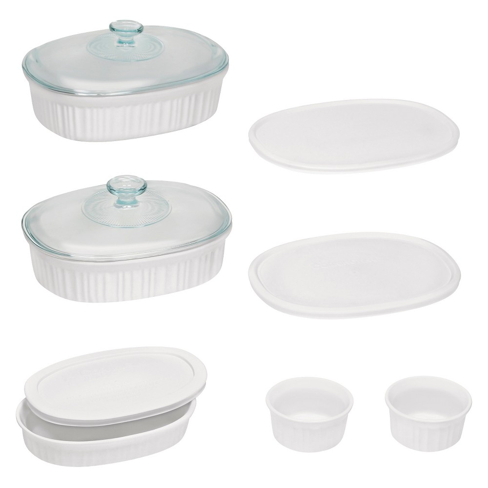 Image of CorningWare 10pc Ceramic Bake Set White