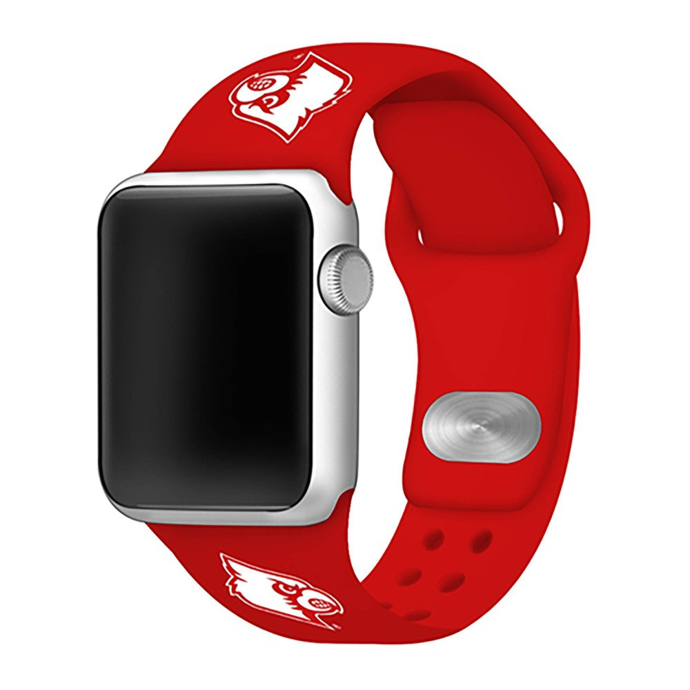 Ncaa Louisville Cardinals Silicone Apple Watch Band 42mm
