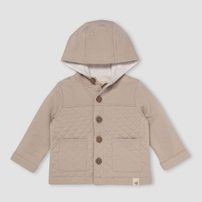 Burt's Bees Baby® Baby Boys' Quilted Utility Jacket - Light Taupe