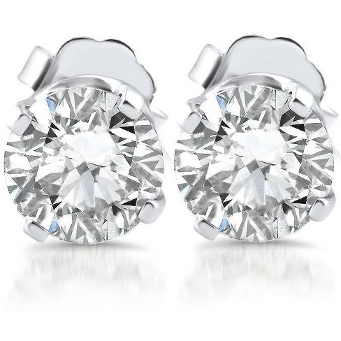 Pompeii3 1ct Diamond Studs 14K White Gold - image 1 of 3