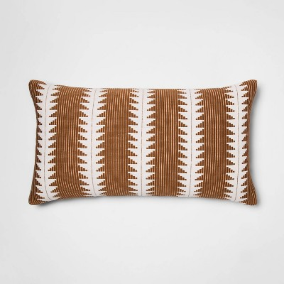 Oversized Woven Global Lumbar Throw Pillow Tan - Threshold™