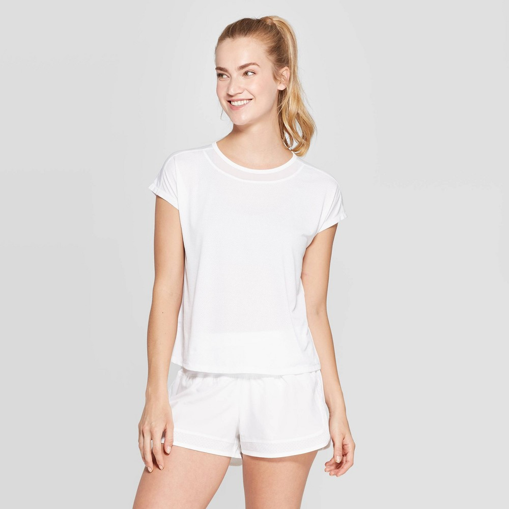 Women's Short Sleeve Mesh T-Shirt - C9 Champion White XS