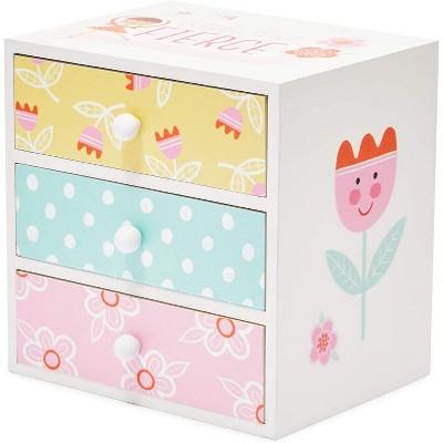 Children/'s White JewelryTreasureKeepsakeMemoryStorage Box