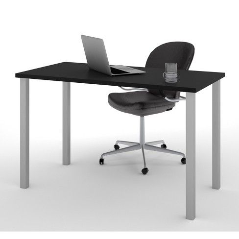 """24"""" X 48"""" Table with Square Metal Legs - Bestar - image 1 of 2"""