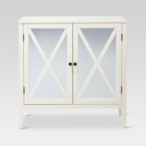Wooddale Two Door Mirrored Storage Cabinet Threshold Target