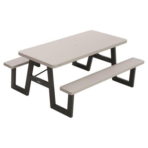 Rectangle Picnic Table Beige Lifetime Target