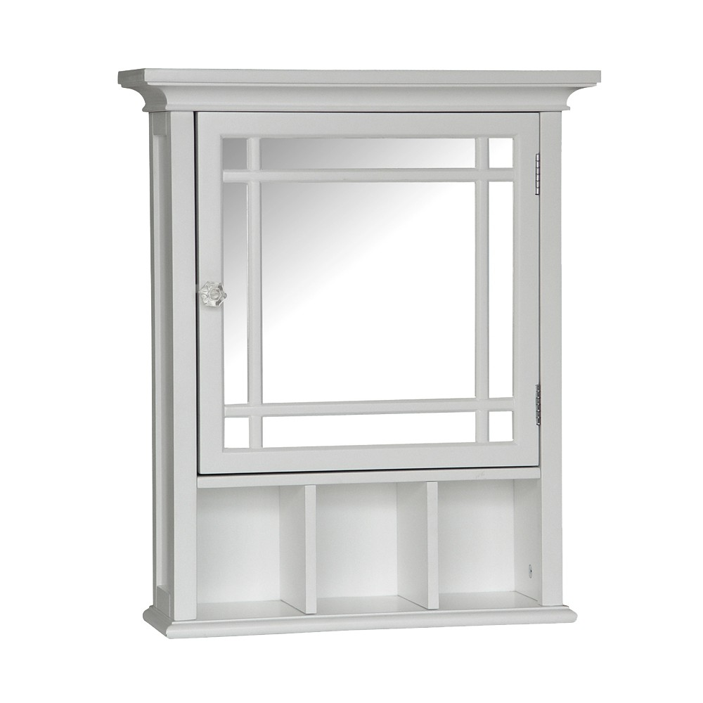 Image of Neal Wall Cabinet with 1 Door White - Elegant Home Fashions