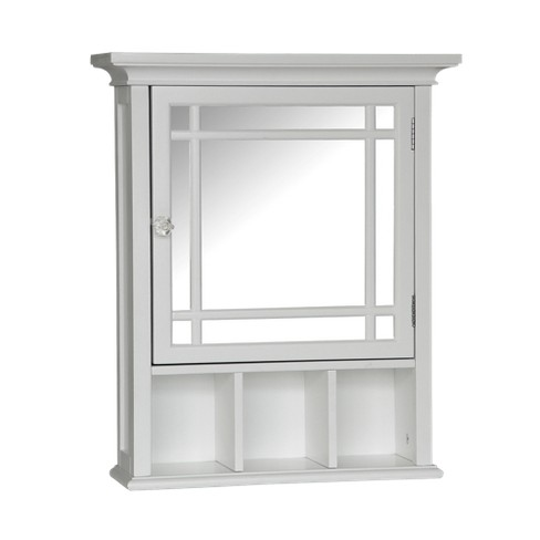 Neal Wall Cabinet with 1 Door White - Elegant Home Fashions - image 1 of 4