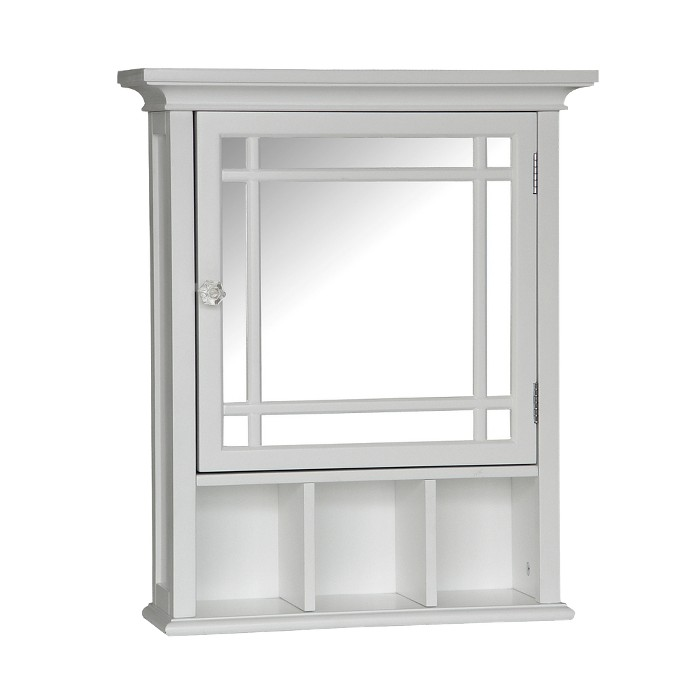 Neal Wall Cabinet with 1 Door White - Elegant Home Fashions - image 1 of 3