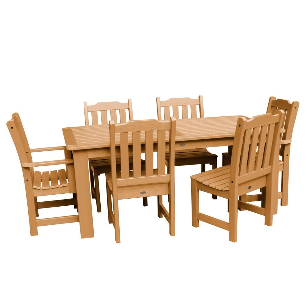 Lehigh 7pc Rectangular Dining Set Toffee - Highwood
