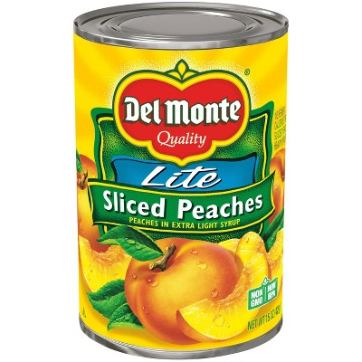 Del Monte Lite Yellow Cling Peach Slices in Extra Light Syrup 15oz